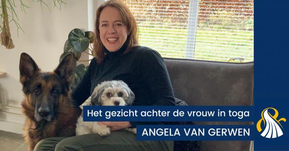 HET GEZICHT ACHTER DE VROUW IN TOGA | Angela van Gerwen